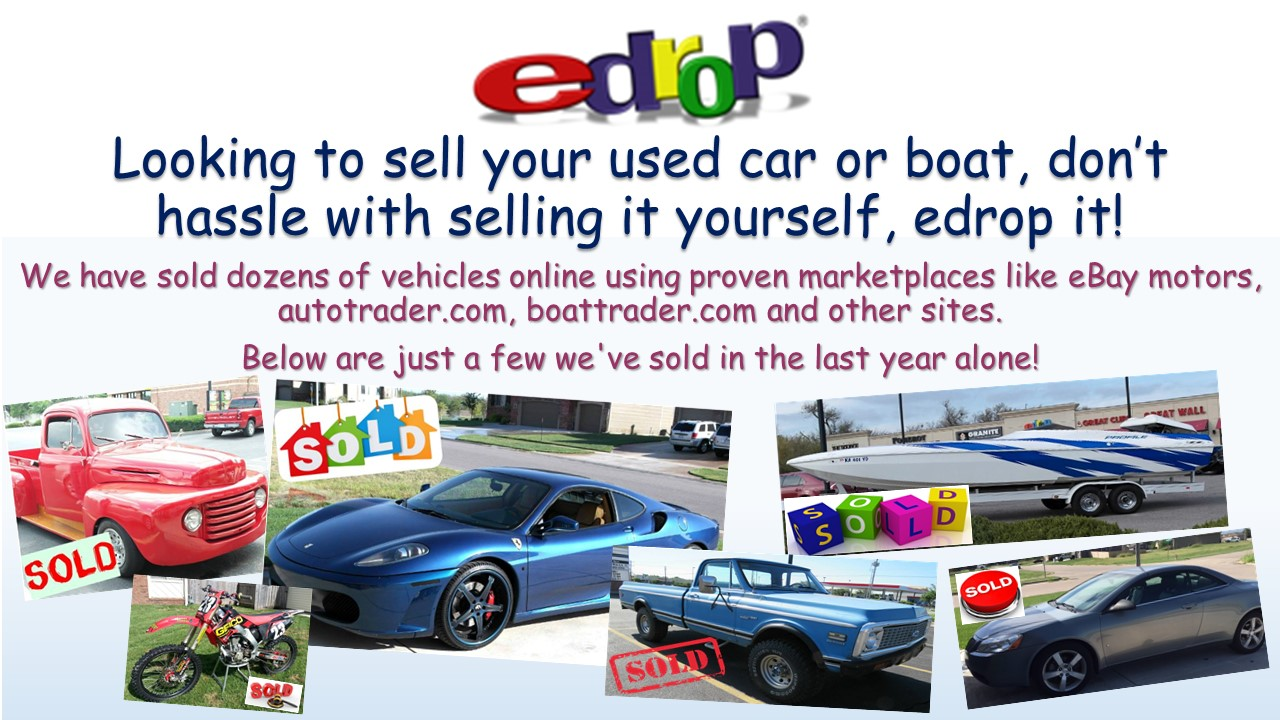 Sell Your Used Car Or Boat With Edrop!